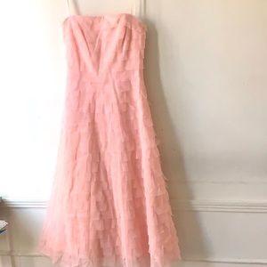 BCBG MaxAzaria Pink Tulle Ruffle Dress